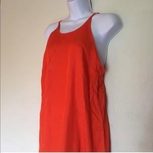 &Other Stories Orange cutout back dress 6